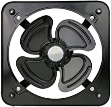 YGB Bureauventilator, zwarte afzuigventilator, 8 inch wandventilator voor ventilator voor kantoorkeuken, badkamerventilator