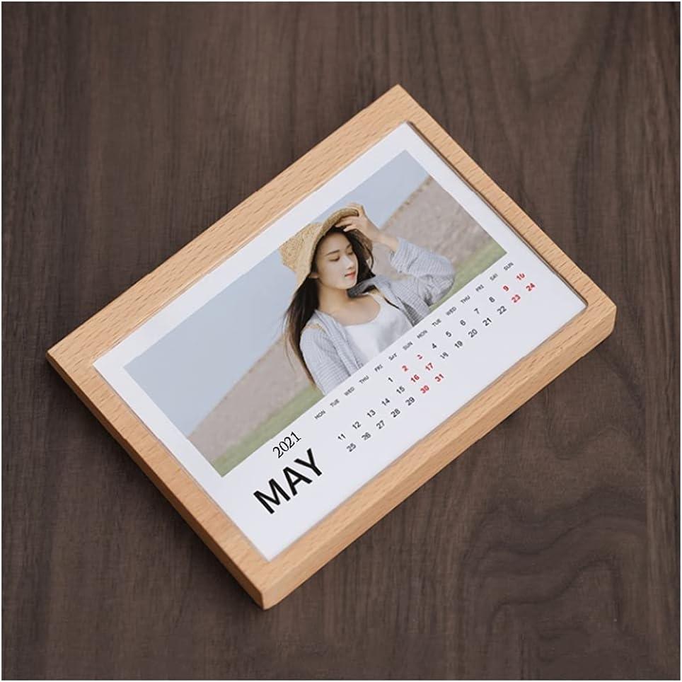 LZL Milwaukee Mall DIY Photo Wooden Desk Calendar Mak Atlanta Mall 6 Plastic with Cover Inch