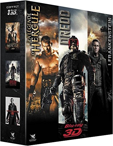 Coffret 3D : Dredd + I, Frankenstein + La Légende d'Hercule
