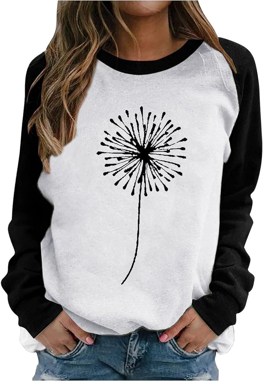 Oiumov Sweatshirts for Women, Women's Teen Girls Print Fashion Long Sleeve Hoodies Casual Loose Hooded Top Shirts Blouse