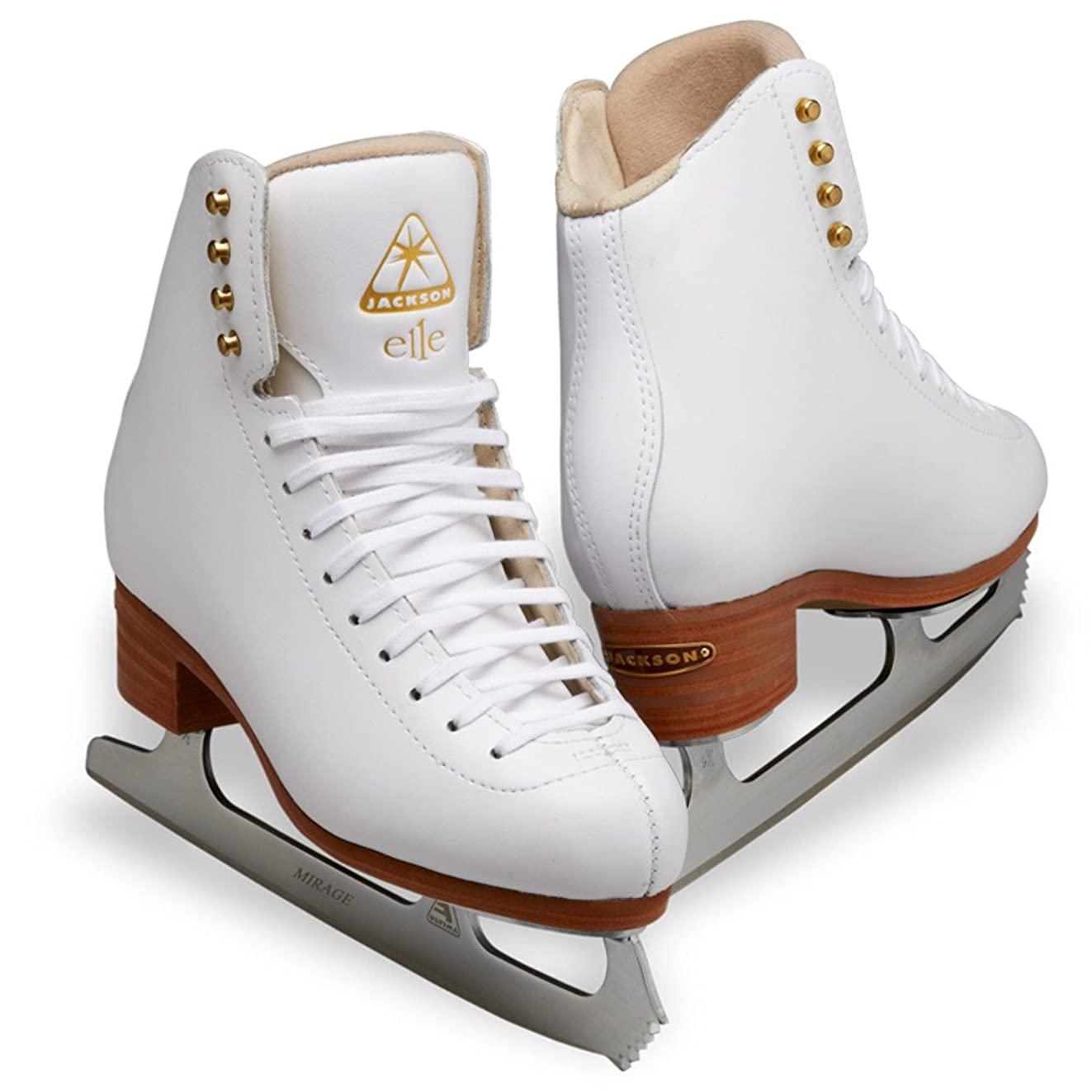 偽造毒割合Jackson DJ2130 Elle レディース アイススケート ホワイトエントリーレベル フィギュアスケート用