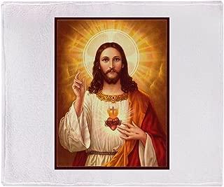 CafePress Sacred Heart of Jesus Soft Fleece Throw Blanket, 50