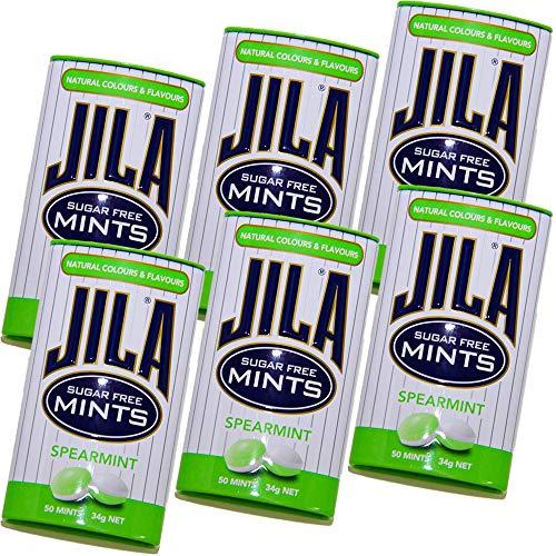 ジラ JILA ミントタブレット スペアミント 34g 6缶セット 送料無料 少し大きめ粒 海外