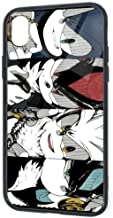 Cool Design iPhone XR Case, Sonic Shadow Silver Mephiles Game Theme Fan Painting SandProof Shock Absorption Slim Fit Drop Protection Tempered Glass Cover Case for iPhone XR 6.1 Inch