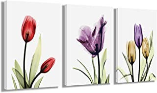 Murals Hanging Paintings Decorative Art Wall Home Decoration Painting 12x16Inches x 3Panels (Tulip