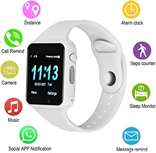 Smart Watches, Android Touch Screen Bluetooth Smart Watch with Camera, IOQSOF Women Smart Watch with Text SIM TF Card Slot, Smart Wrist Watch Compatible Android Samsung LG iOS iPhone for Men Kids