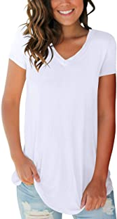 قمصان نسائية من SMALOVY بأكمام قصيرة ورقبة على شكل حرف V