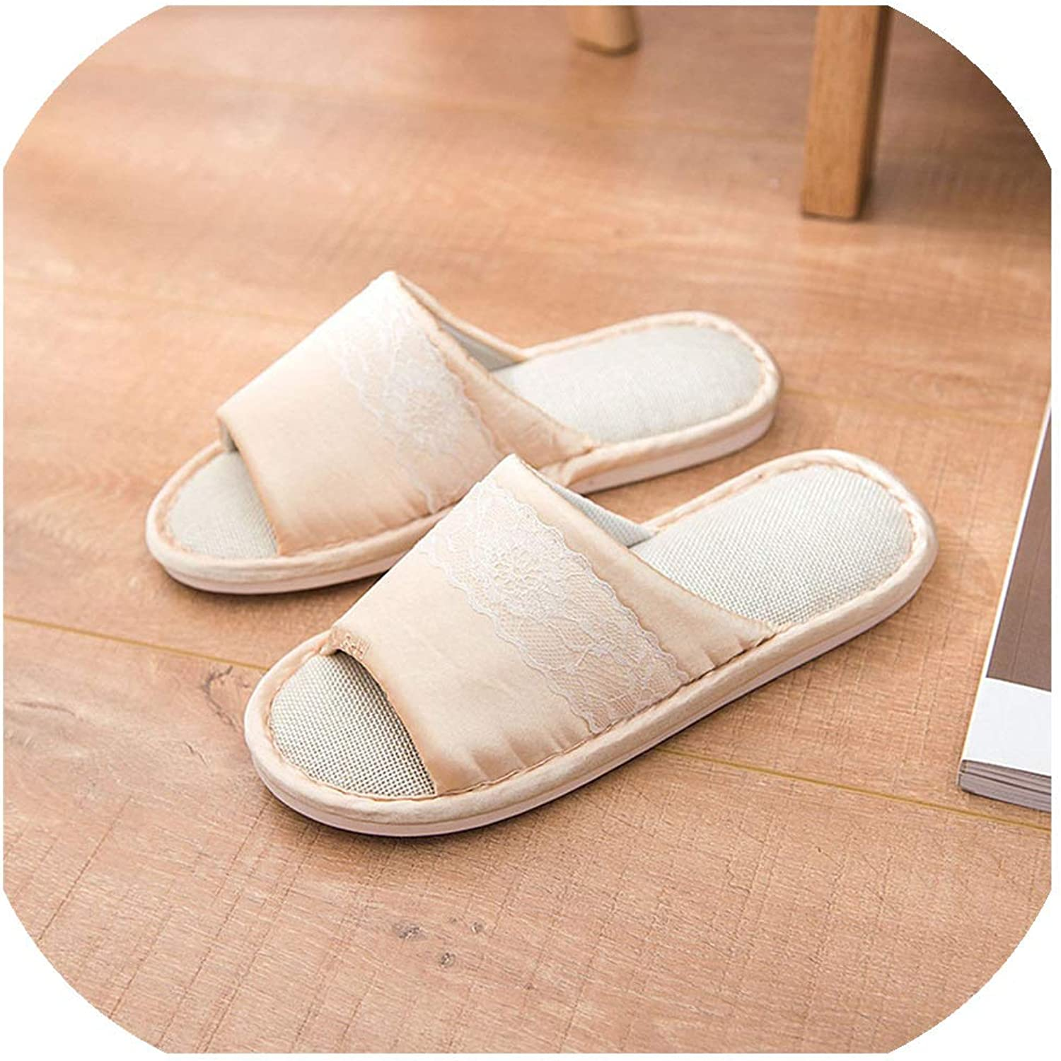 Women Spring Home Slippers Indoor Flat shoes Female Casual Slides Comfortable Floor Slippe,