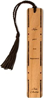 Jane Austen Engraved Wooden Bookmark Quote - Search B07QWNJF5Z to See Personalized Version