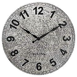 Bulova C4126 Granite Wall Clock, Aged Stone