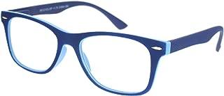Matte Rubberized Hipster Horn Rim Spring Hinge Reading Glasses