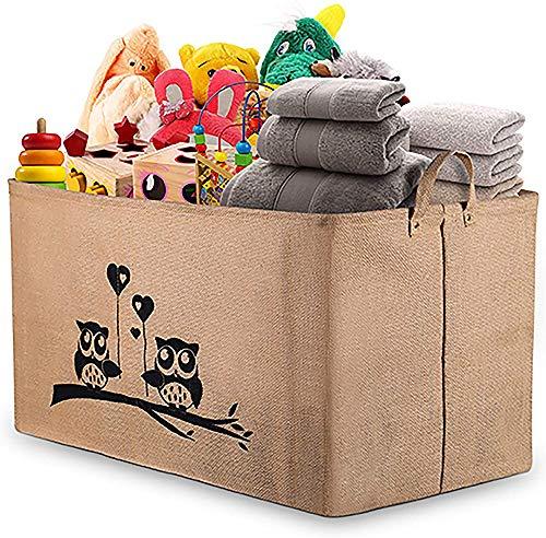 Gimars Contenedor de canasta grande para juguetes Caja de almacenamiento plegable sin tapa Organizadores juguetes niños en yute(26 pulgadas) 66 * 38 * 38cm