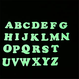 3D letter Luminous Sticker ( 26 PC)of 3/ In Dark Fluorescent/Easy peel/Reusable /for Wall and Baby Kids Room