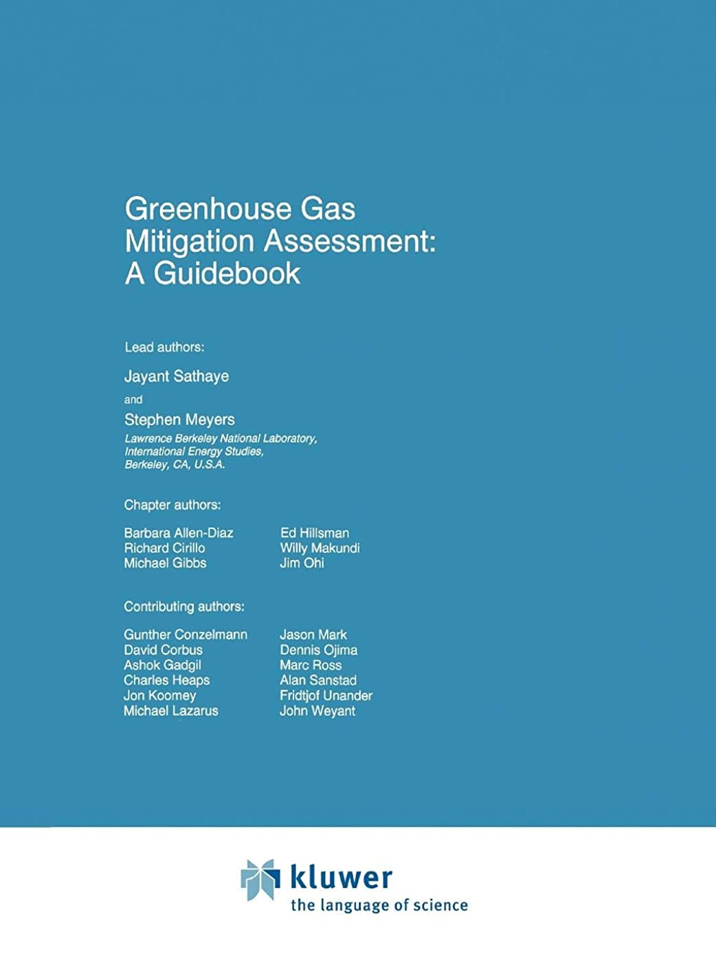 褒賞橋欠伸Greenhouse Gas Mitigation Assessment: A Guidebook (Environmental Science and Technology Library)