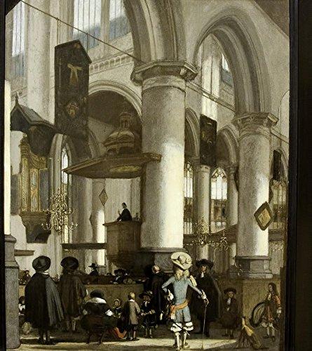 Het Museum Outlet - Interieur van de Oude Kerk in Delft, c. 1680 - Poster Print Online kopen (40 X 50 Inch)