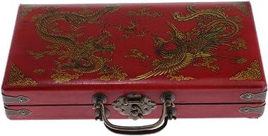 dailymall Storage Box Vintage Wooden Jewelry Storage Box Organizer Old-Fashioned Antique Style Wedding Decor for Decorative T