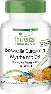 Boswellia + Cúrcuma + Mirra con Vitamina D3 - Dosis elevada - 120 Comprimidos - Calidad Alemana