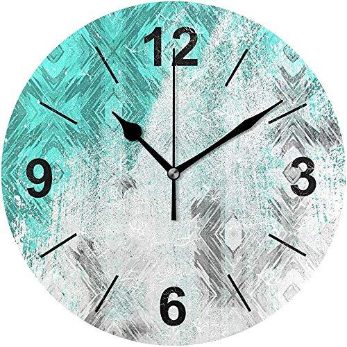 L.Fenn Wandklok, rond, vijftig grijsstanden, grijsdeeltjes, waterdiameter, geruisloos, decoratief voor thuis, kantoor, keuken, slaapkamer