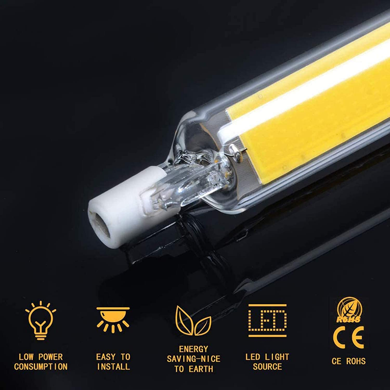 CNMJI 20W R7s LED Bulb 118mm LED COB Light 200W Halogen Equivalent 110//220V 360/° Beam Angle Dimmable R7s Base Double Ended Floodlight Bulb Landscape Lights 2 Pack