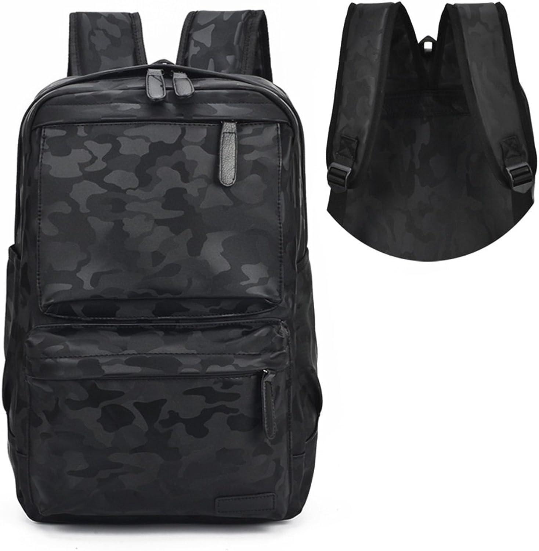 MuMa Casual Daypacks Leisure Men Backpack Backpack Student Bag PU Trend Movement Travel Laptop Bag