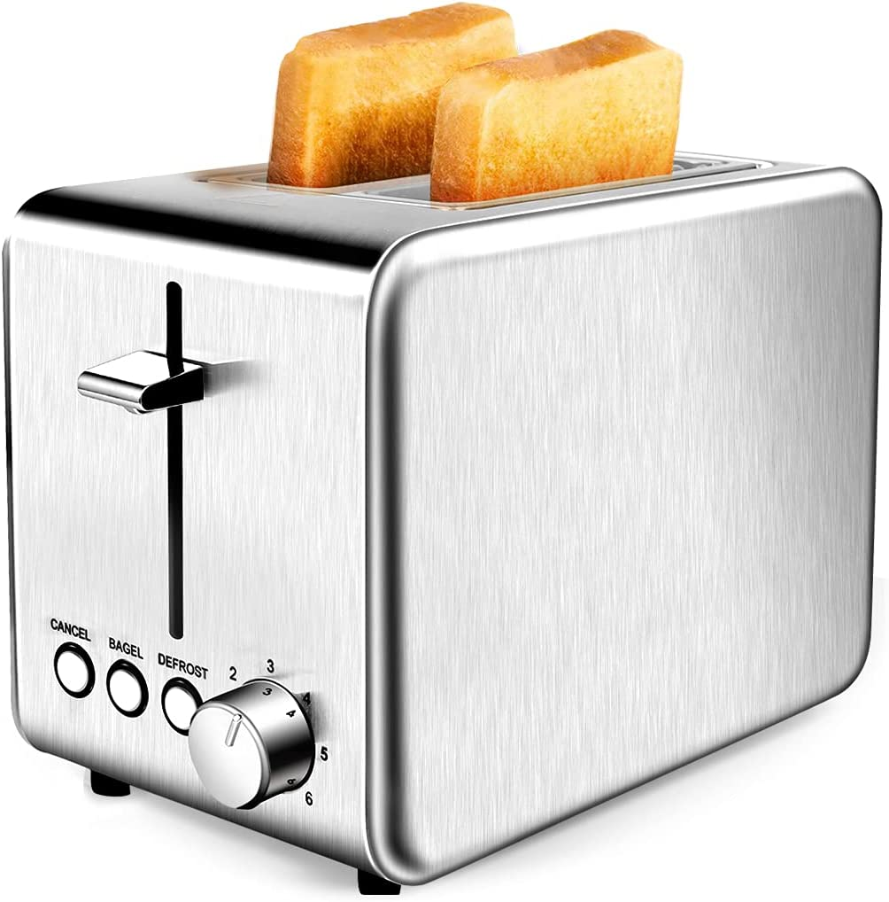 Toaster 2 Slice Stainless Steel Extra Year-end annual account Settings 6 Philadelphia Mall Shade toaster
