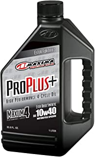 Maxima (30-02901) Pro Plus+ 10W-40 Synthetic Motorcycle Engine Oil - 1 Liter Bottle