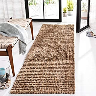 "Safavieh Natural Fiber Collection NF447A Hand-woven Chunky Textured Jute Runner, 2' 6"" x 8' (B002XWFQ8O) 