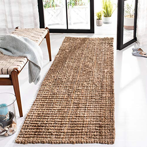 Safavieh Natural Fiber Collection NF447A Hand-Woven 0.5-inch Thick Chunky Textured Jute Runner, 2' 6' x 6'