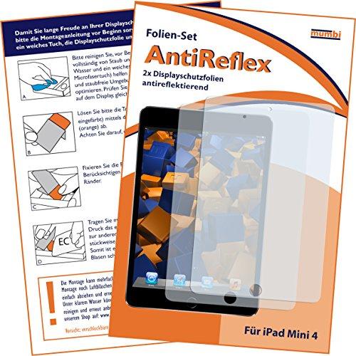 mumbi Schutzfolie kompatibel mit iPad Mini 4 2015 / iPad Mini 5 Folie matt, Bildschirmschutzfolie (2X)