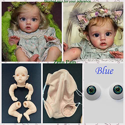 Zero Pam Blank Reborn Kits Silikonform (Gliedmaßen + Kopf + Augen + Körper) 30cm Zoll Reborn Flo Elves Neugeborene Puppen Kit DIY Ihre speziellen wiedergeborenen Babys