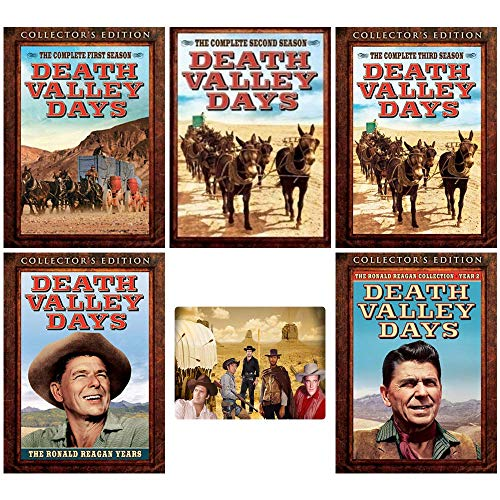 Death Valley Days: TV Series Complete Seasons 1-3 + The Ronald Reagan Years 1-2 Collector's Edition DVD Collection + Bonus Sticker