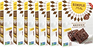 Simple Mills Almond Flour Mix, Brownie, 12.9 Ounce (Pack of 6)