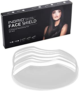 CCbeauty Barber Supplies 100pcs Disposable Face Hairspray Shield Bang trimmer Tool Hair Cutting Tools Shield for for Women Hair Salon Face Protection