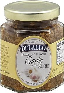 Delallo Roasted & Minced Garlic in Pure Dellalo Olive Oil 5.5 OZ (Pack of 6)