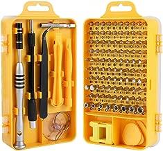 Screwdriver Set, Trekoo 110 in 1 Precision Screwdriver Repair Tool Kit Magnetic Driver Kit Professional Repair Tool Kit for iPhone X, 8, 7 / Cellphone/Computer/Tablet/PC/electronic etc (Yellow)