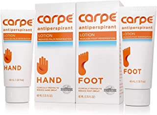 Carpe Antiperspirant Hand and Foot Lotion Package Deal
