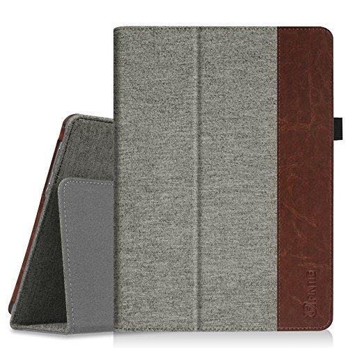 Fintie Hülle Case für Huawei MediaPad M3 Lite 10 - Ultra Schlank Folio Stoff Schutzhülle Etui Tasche Case Cover für Huawei MediaPad M3 Lite 10 Tablet-PC, Denim grau