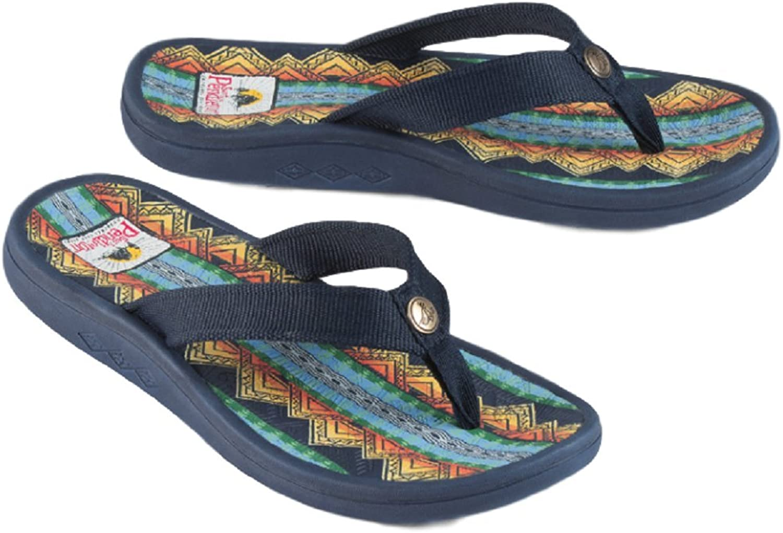 Pendleton Women's American Treasures Flip Flop Sandal (6 B(M) US, Navy)