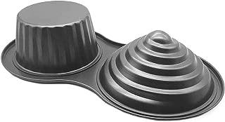 HOMOW 3D Giant Cupcake Pan, Non-Stick Carbon Steel Jumbo Cupcake Pans, Large Cupcake Mold NS8-001 (15.35