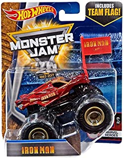 Hot Wheels Monster Jam Iron Man Monster Truck With Team Flag