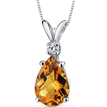 Details about  /Andalusite 1.86 Ct Gemstone Pear Shape 10k White Gold Pendant for Women
