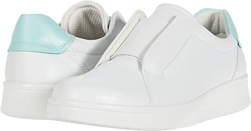 White/Eggshell Blue Cow Leather/Cow Leather