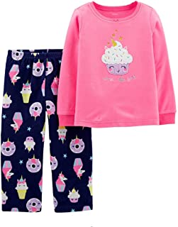 Girls' 2-Piece Fleece Pajamas Top and Pants Set