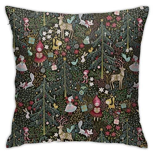 pingshang Maximalistchristmas - Funda de almohada moderna para sofá, cama, silla, coche, 45,7 x 45,7 cm