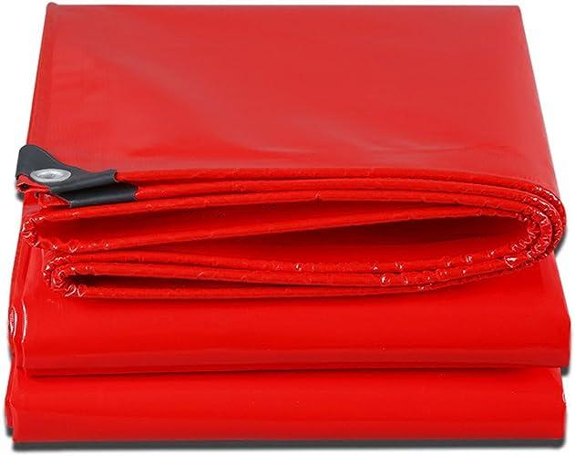 LPYMX Refuge de Camping Bache Lourde Rouge, RV ou Couverture de Piscine (Couleur   rouge, Taille   4 x 4m)