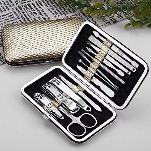 Generic Nagelknipser Set Nagelhaushaltsnagelknipser Nagelknipser Pediküre Messer Ohr Löffel Nasenschere Werkzeug-Deluxe Edition