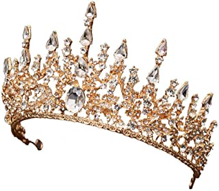 YNYA Tiare Bridal Crown Headband Headdress Baroque Wedding Crown Earrings Set Accessori per Capelli da Sposa Accessori da ...