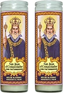 Gifts by Lulee, LLC Juan el Conquistador John The Conqueror House Blessing 2 Candle Set with Prayer in The Back