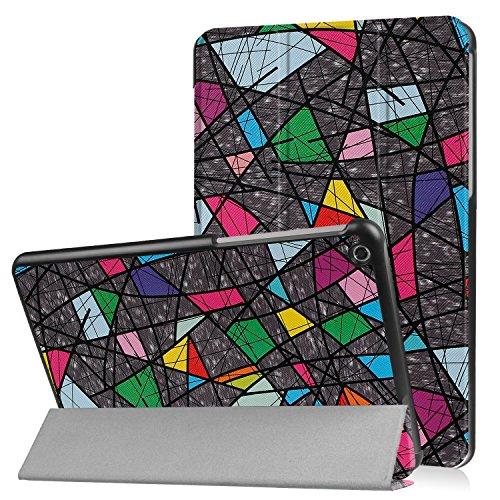 Lobwerk Schutzhülle für LG G Pad 3 10.1 Zoll Ultra Slim Cover LG X760 Hardcase aufstellbar & Auto aufwachen und Schlaf Funktion (Abstrakt) + GRATIS Stylus Touch Pen