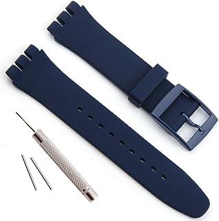 étanche en Caoutchouc de Silicone Bracelet de Montre Watch Band pour Swatch (17mm X 19mm 20mm)